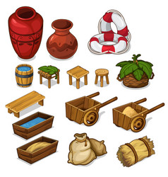 Set items for life in the countryside vector