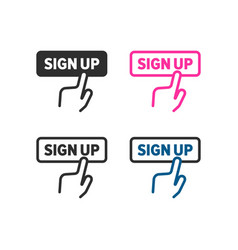 sign up icon vector image