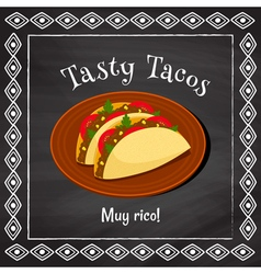 tasty tacos vector image