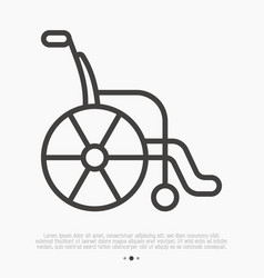 thin line icon wheelchair vector image
