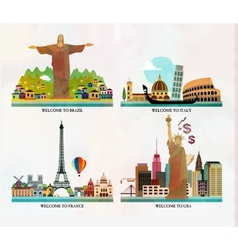 Travel and tourism locations vector image