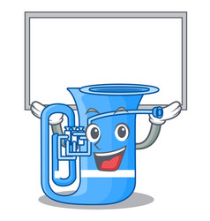 Up board tuba in the mascot music room vector