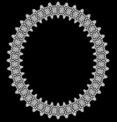 Vintage oval frame vector