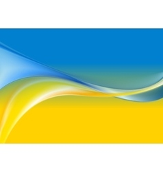 Wavy background Ukrainian flag colors vector