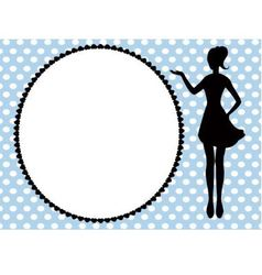 woman silhouette and frame vector image