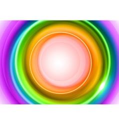 background rainbow light center big vector image