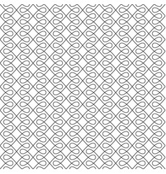 black and white seamless linear flourish pattern vector image vector image