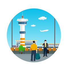 icon airport travel and tourism concept vector image vector image
