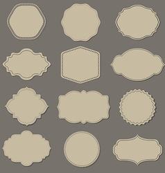 Label Big Set vector image vector image
