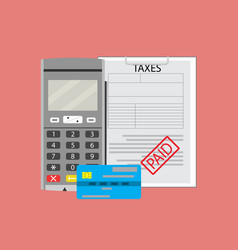 payment transaction tax vector image