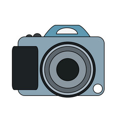 photographic camera symbol vector image vector image