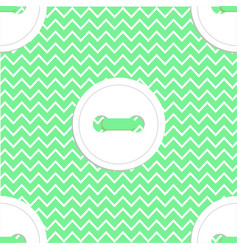 seamless pattern in green and white colors vector image