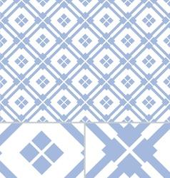 Vintage Blue Western seamless pattern vector image vector image