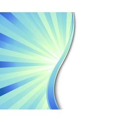 blue flash vector image vector image
