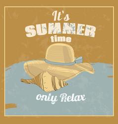 retro beach vacation poster vector image