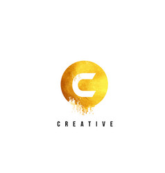 c gold letter logo design with round circular vector image vector image