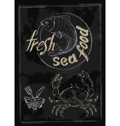 fresh sea food vector image