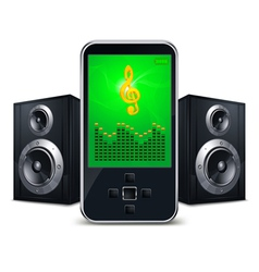 mp3 player with speakers vector image vector image