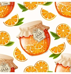 Orange jam seamless pattern vector