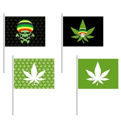 Rasta flags set Banner for addicts of Jamaica vector image