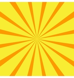 Retro orange background ray vector image