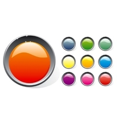 Shiny plastic buttons set vector image