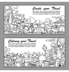 Create your travel Flier vector image
