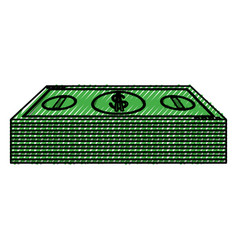 Money billets isolated vector