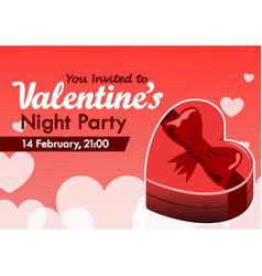 valentine day party invitation vector image