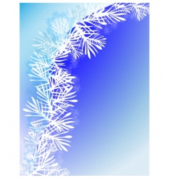 winter background with snow branch vector image vector image