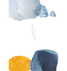 Abstract art background with watercolor texture vector