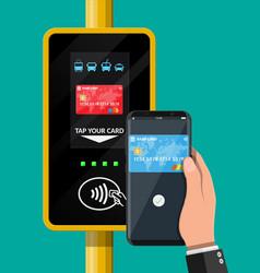 airport metro bus subway ticket validator vector image
