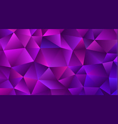 Amethyst low poly backdrop trendy violet triangle vector