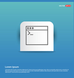application window interface icon - blue sticker vector image