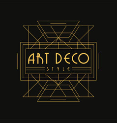 Art deco style logo luxury vintage geometric vector