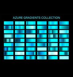 azure glossy gradient metal foil texture color vector image