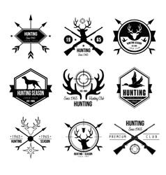 Badges Labels Logo Design Elements Hunting vector