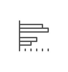 bar chart line icon vector image