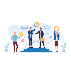 Business partnership concept vector