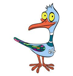 Cartoon image of duck vector