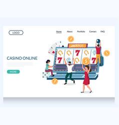 casino online website landing page design vector image