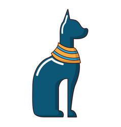 Cat egypt icon cartoon style vector