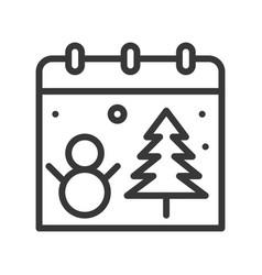 Christmas calendar christmas related line style vector