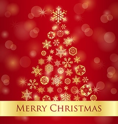 Christmas greeting card with red background and vector