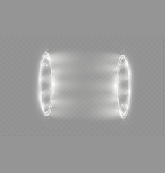 Circular lens flare transparent light effect vector