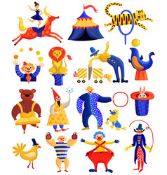 Circus artists collection vector