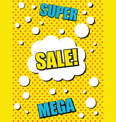 comic advertising yellow template vector image