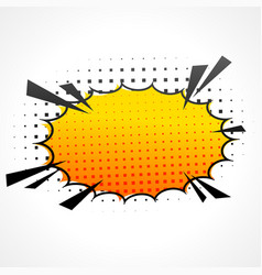 comic speed bubble vector image
