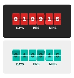 Countdown clock digits board New year and vector