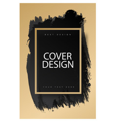 cover design template with watercolor texture vector image